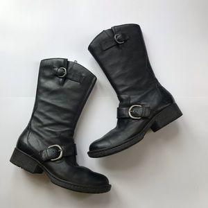 Born women's black leather boots size 7.5